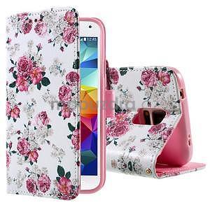 Ochranné pouzdro na mobil Samsung Galaxy S5 - květinová koláž - 1