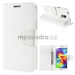 Elegantní peněženkové pouzdro na Samsung Galaxy S5 - bílé - 1