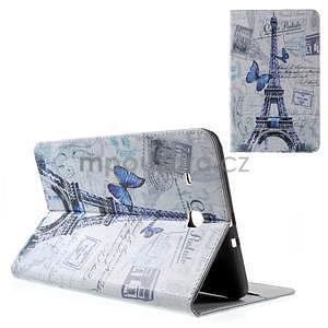 Ochranné koženkové pouzdro na Samsung Galaxy Tab E 9.6 - Eiffelova věž - 1