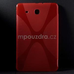X-line gelové pouzdro na tablet Samsung Galaxy Tab E 9.6 - červené - 1
