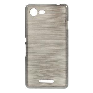 Brushed gelový obal na mobil Sony Xperia E3 - šedý - 1