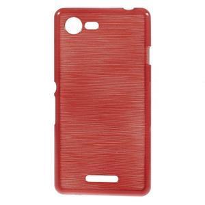 Brushed gelový obal na mobil Sony Xperia E3 - červený - 1