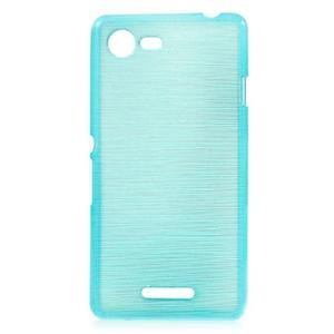 Brushed gelový obal na mobil Sony Xperia E3 - modrý - 1