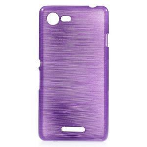 Brushed gelový obal na mobil Sony Xperia E3 - fialový - 1