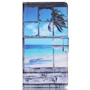 Emotive pouzdro na mobil Sony Xperia M4 Aqua - plážová scenérie - 1