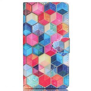 Emotive pouzdro na mobil Sony Xperia M4 Aqua - hexagony - 1