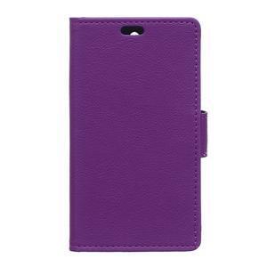 Grain koženkové pouzdro na Sony Xperia X - fialové - 1