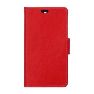 Horse PU kožené pouzdro na Sony Xperia X - červené - 1