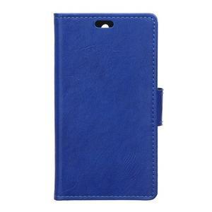 Horse PU kožené pouzdro na Sony Xperia X - modré - 1