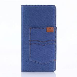 Jeans peněženkové pouzdro na Sony Xperia X - modré - 1