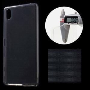 Ultratenký 0.5 mm gelový obal na Sony Xperia X - šedý - 1