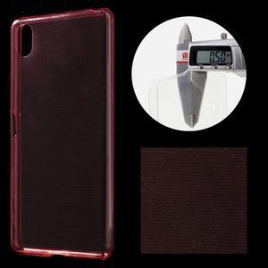 Ultratenký 0.5 mm gelový obal na Sony Xperia X - červený - 1