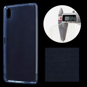 Ultratenký 0.5 mm gelový obal na Sony Xperia X - tmavěmodrý - 1