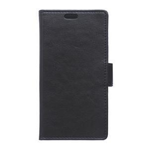 Knížkové PU kožené pouzdro na Sony Xperia X - černé - 1