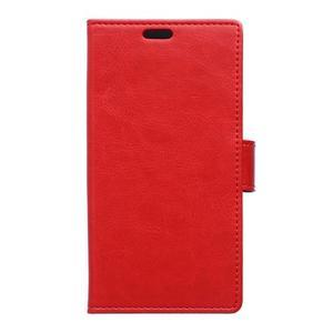 Knížkové PU kožené pouzdro na Sony Xperia X - červené - 1