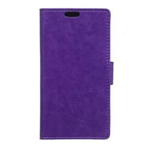 Knížkové PU kožené pouzdro na Sony Xperia X - fialové - 1