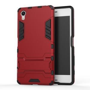 Odolný kryt na mobil Sony Xperia X - červený - 1