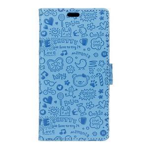 Cartoo peněženkové pouzdro na Sony Xperia X - modré - 1