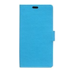 Grain koženkové pouzdro na Sony Xperia X - modré - 1