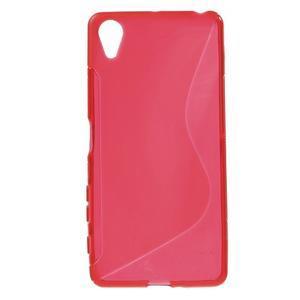 S-line gelový obal na mobil Sony Xperia X Performance - červený - 1