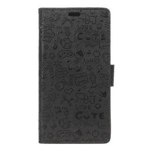 Cartoo pěněženkové pouzdro na Sony Xperia X Performance - černé - 1