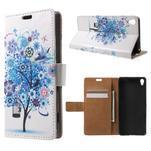 Emotive pouzdro na mobil Sony Xperia XA - modrý strom - 1/7