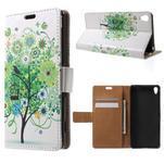 Emotive pouzdro na mobil Sony Xperia XA - zelený strom - 1/7