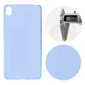 Ultratenký 0.5 mm gelový obal na mobil Sony Xperia XA - tmavěmodrý