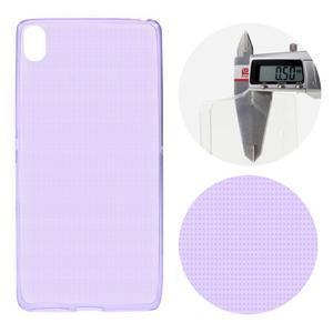 Ultratenký 0.5 mm gelový obal na mobil Sony Xperia XA - fialový