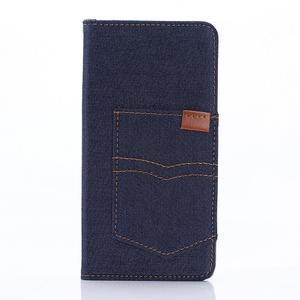 Jeans peněženkové pouzdro na mobil Sony Xperia XA - tmavěmodré - 1