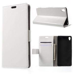 Horse PU kožené pouzdro na mobil Sony Xperia XA - bílé - 1