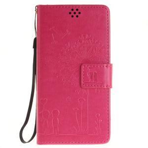 Dandely PU kožené pouzdro na mobil Sony Xperia XA - rose - 1