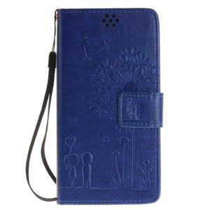 Dandely PU kožené pouzdro na mobil Sony Xperia XA - modré - 1