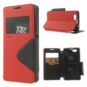 Okýnkové pouzdro na mobil Sony Xperia Z1 Compact - červené - 1