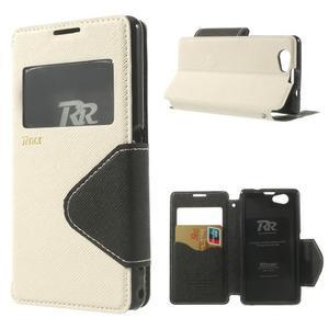 Okýnkové pouzdro na mobil Sony Xperia Z1 Compact - bílé - 1