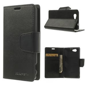 Sonata PU kožené pouzdro na mobil Sony Xperia Z1 Compact - černé - 1