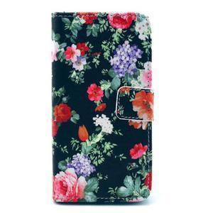 Pouzdro na mobil Sony Xperia Z1 Compact - květinová koláž - 1