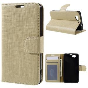 Clothy PU kožené pouzdro na Sony Xperia Z1 Compact - champagne - 1