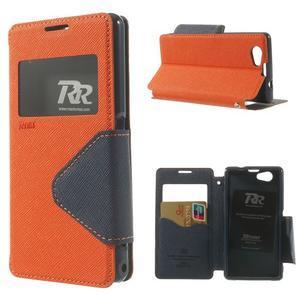 Okýnkové pouzdro na mobil Sony Xperia Z1 Compact - oranžové - 1