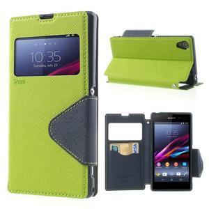 Okýnkové pouzdro na mobil Sony Xperia Z1 - zelené - 1