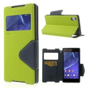 Okýnkové pouzdro na mobil Sony Xperia Z2 - zelené - 1