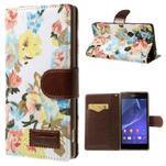 Květinové pouzdro na mobil Sony Xperia Z2 - bílé - 1/7