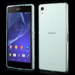 Ultratenký slim gelový obal na mobil Sony Xperia Z2 - cyan - 1