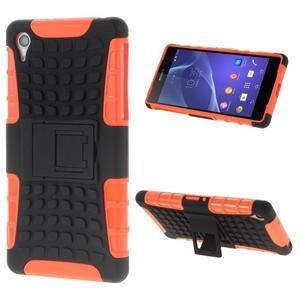 Outdoor odolný kryt na mobil Sony Xperia Z2 - oranžový - 1