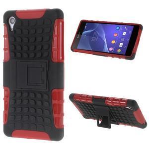 Outdoor odolný kryt na mobil Sony Xperia Z2 - červený - 1