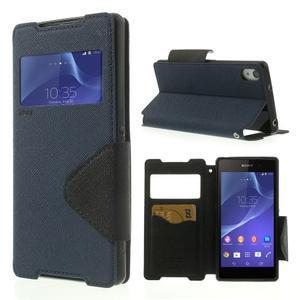 Okýnkové pouzdro na mobil Sony Xperia Z2 - tmavěmodré - 1