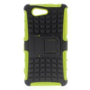 Odolný ochranný kryt na Sony Xperia Z3 Compact - zelený - 1
