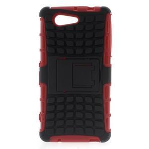 Odolný ochranný kryt na Sony Xperia Z3 Compact - červený - 1