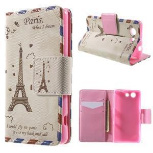 Pictu peněženkové pouzdro na Sony Xperia Z3 Compact - Eiffelova věž - 1