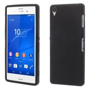 Silikonový obal na mobil Sony Xperia Z3 - černý - 1